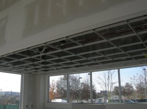 Ceiling grid at Sales Manager's Office