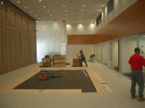 Flooring work in Showroom