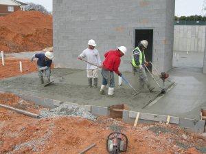 Last bit of concrete is placed.