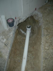 Underslab plumbing ready for inspection