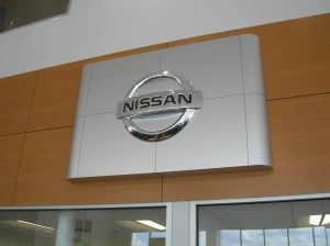 New Nissan brand wall installed.