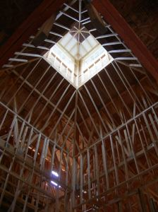 Roof lantern framing complete.