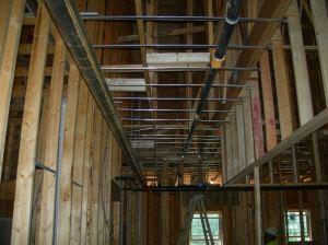 Sprinkler pipe in 3rd floor corridor.