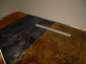 Stained concrete samples