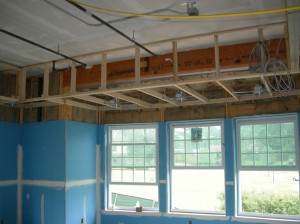 Dropped soffits in Alumni Library