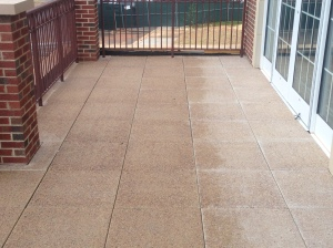 Concrete pavers on rear Balcony.